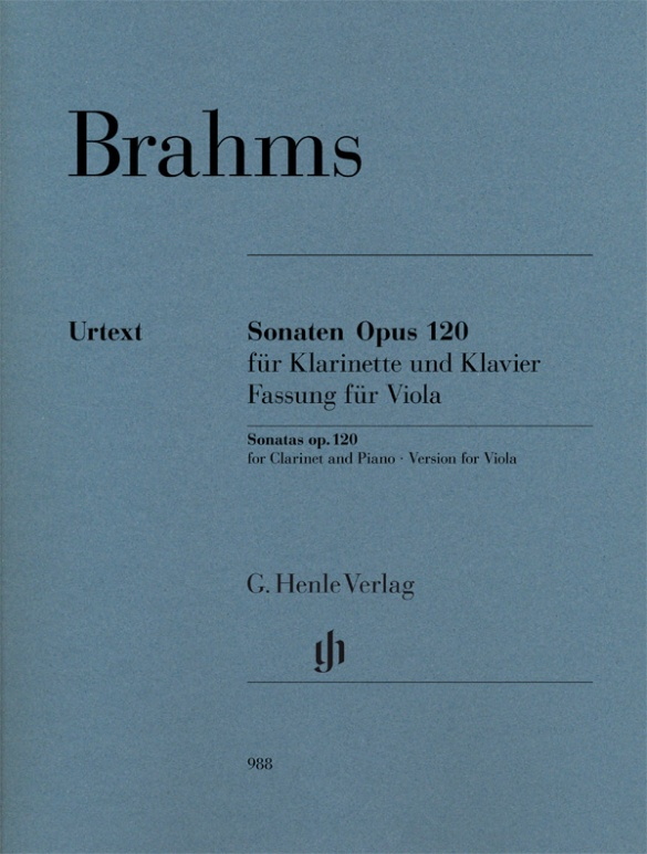 Brahms J. - Sonates Pour Clarinette and Piano Op.120 - Version Pour Alto and Piano