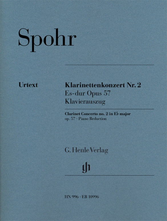 Spohr Louis - Clarinet Concerto N°2 Op.57 - Clarinette and Piano