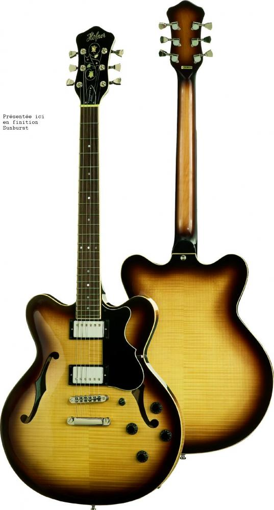 Hofner 1/4 De Caisse Verythin Hctvthsb Contemporary Sunburst
