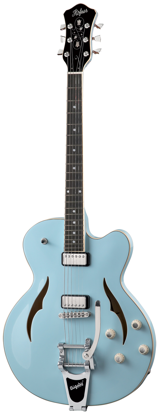 Hofner Verythin Single Cutaway Hvsclbl0 Blue + Etui