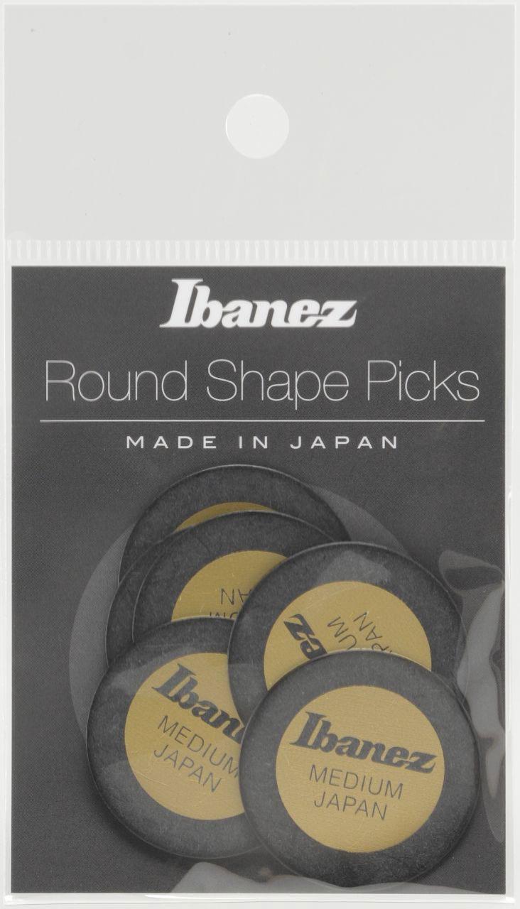 Ibanez  Pick Round Shape Ppa1m-bk Black X6
