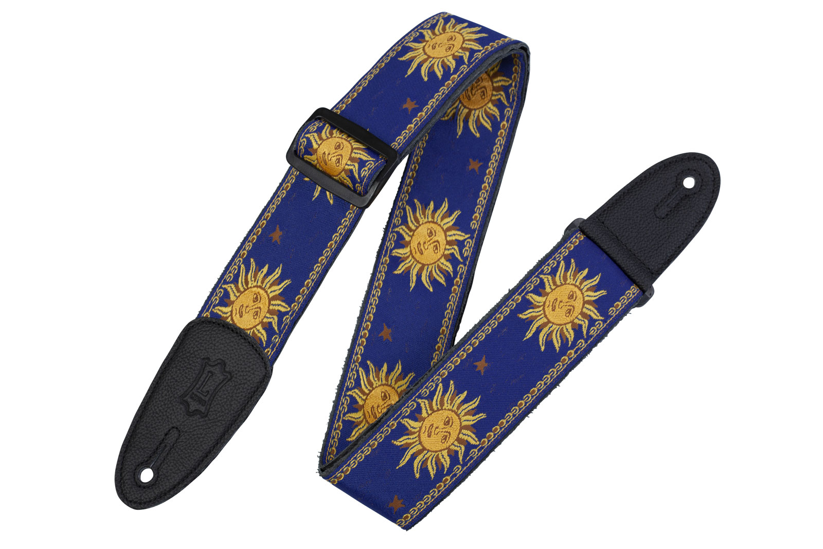 5 CM POLYPROPYLENE & LEATHER WITH BLUE SUN PATTERNS