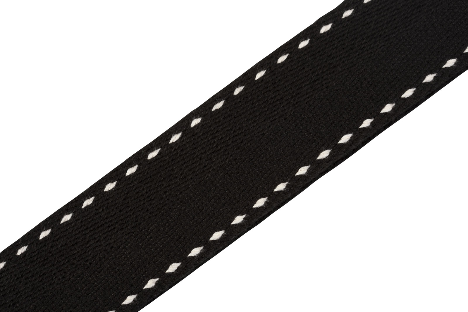 5 CM THICK COTTON COTTON WITH TOPSTITCHED EDGES AND BLACK GRAVE LEATHER EXTREMITIES