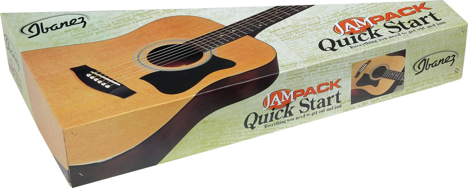 Ibanez Gaucher V50lnjp Nt Jam Pack Natural Kit + Accessoires