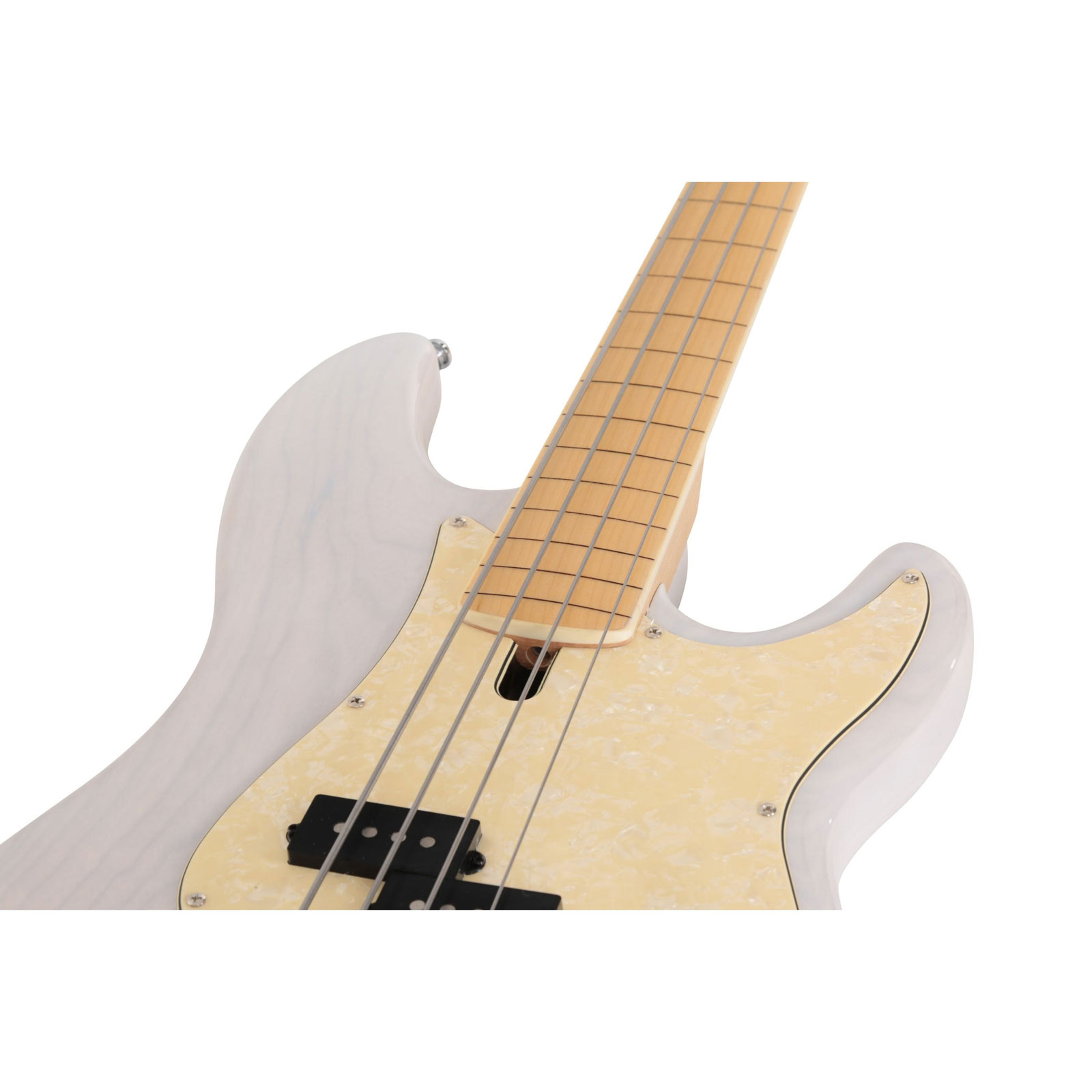 P7 SWAMP ASH - 4 FL WB MN FRETLESS ANTIQUE WHITE