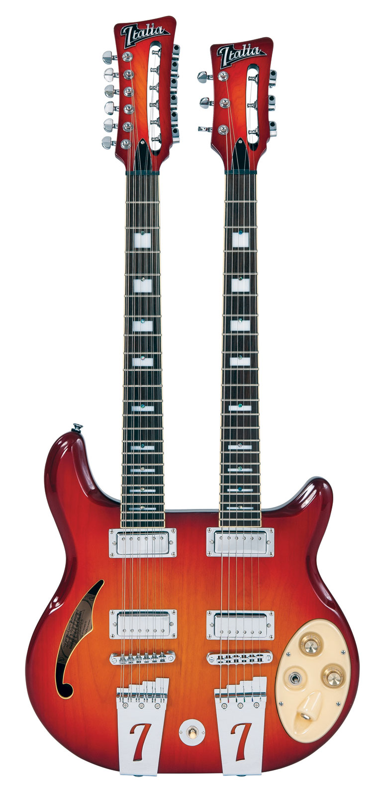 Italia Rimini Twin Cherry Sunburst + Housse Deluxe