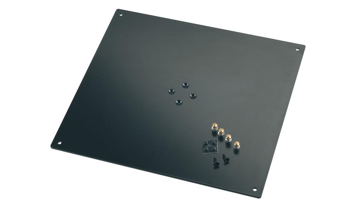 K&m 26792-042-56 Plaque Support Noire 420 X 5 X 380 Mm 60 Kg
