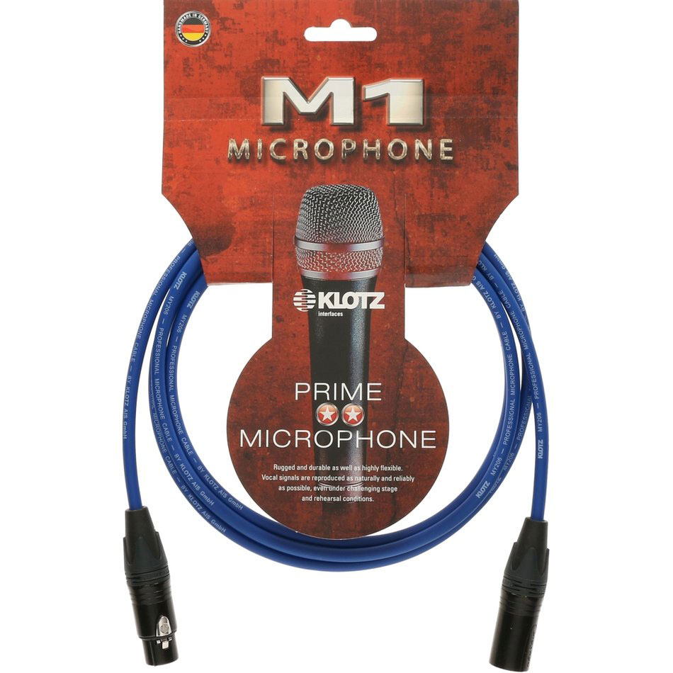 M1 MIC CABLE BLUE 20 M XLR 3P. F/M NEUTRIK