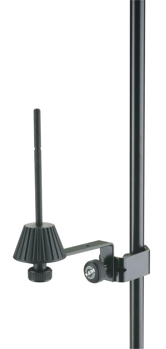 K&m 15265-000-55 Stand Noir Fixation Sur Pupitre Pour Flute Piccolo