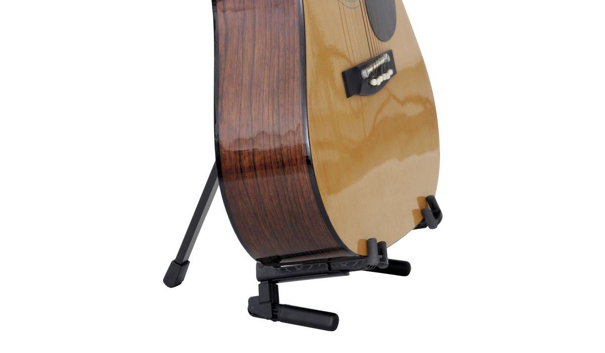 K Amp M 17550 000 35 Black Anodized Guitar Stand Memphis