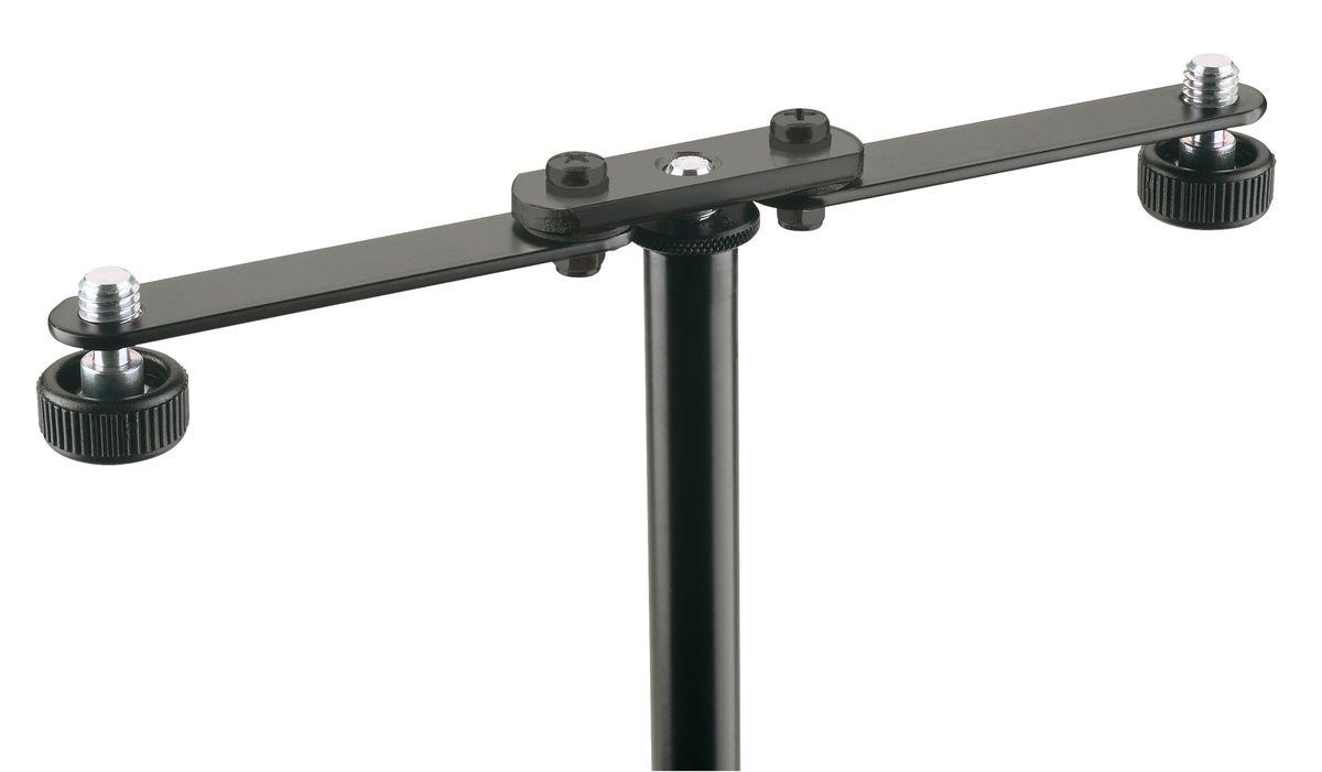 barre support pour 2 micros kandm pied accessoires pour micros microphone achat en ligne. Black Bedroom Furniture Sets. Home Design Ideas