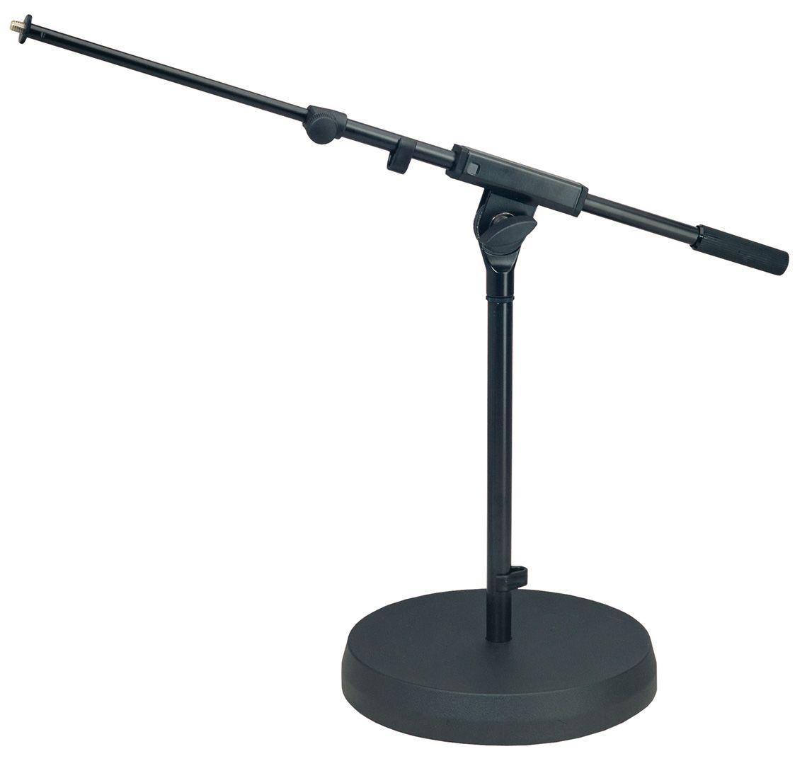 k m 25960 300 55 pied de microphone noir perche basse telescopique embase ronde microphone. Black Bedroom Furniture Sets. Home Design Ideas