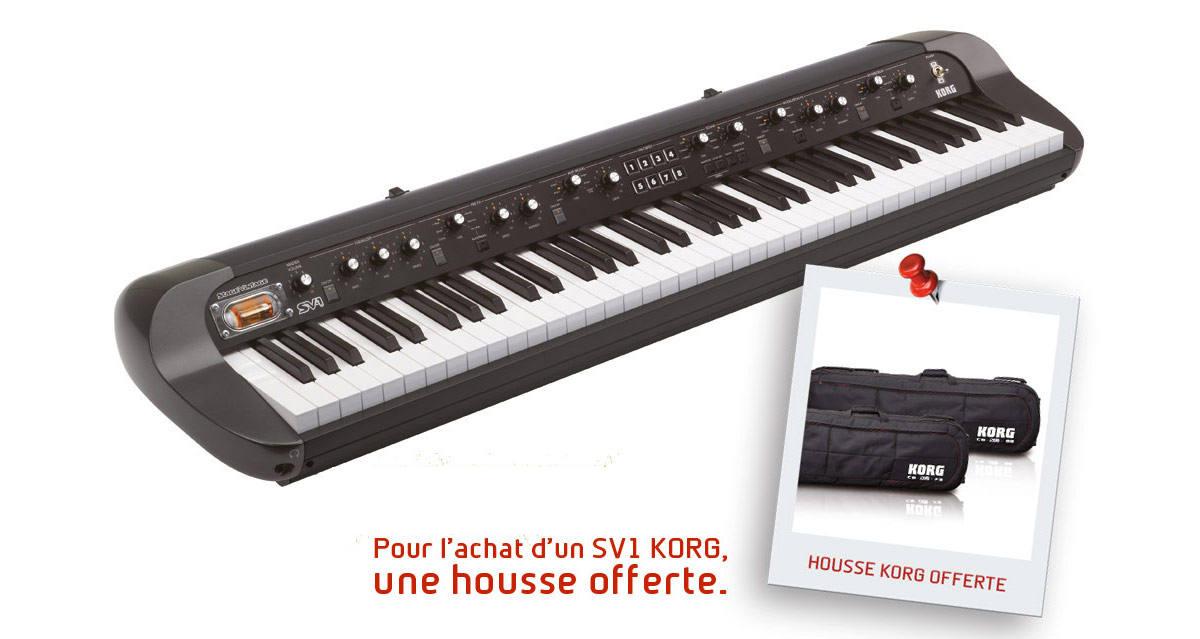 korg sv1 88 bk piano buy online free. Black Bedroom Furniture Sets. Home Design Ideas