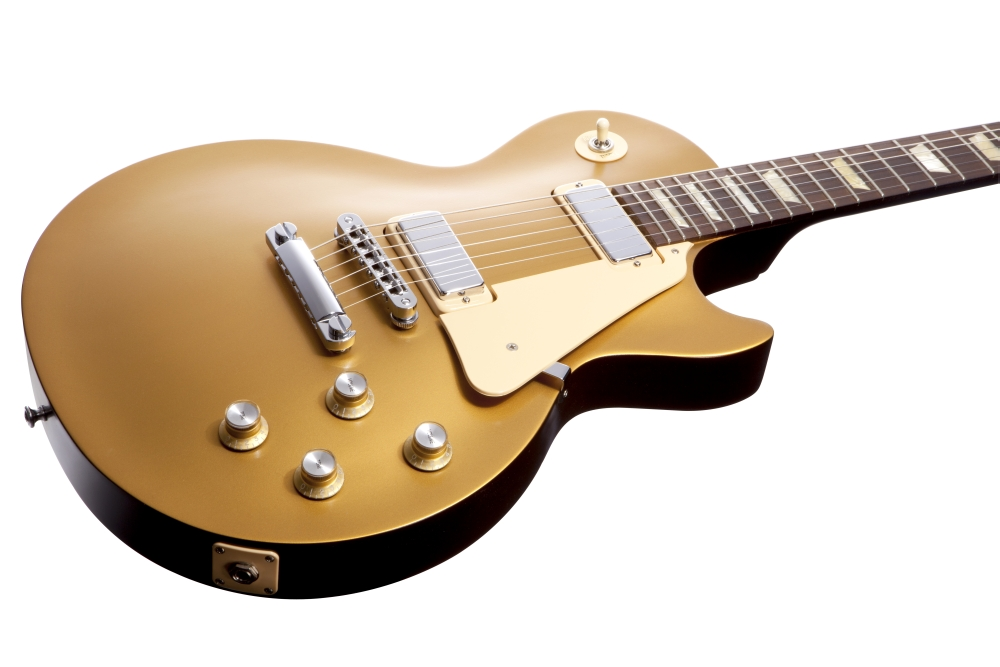guitars bass compare prices gibson les paul 39 70s tribute electric guitar gold top black back. Black Bedroom Furniture Sets. Home Design Ideas