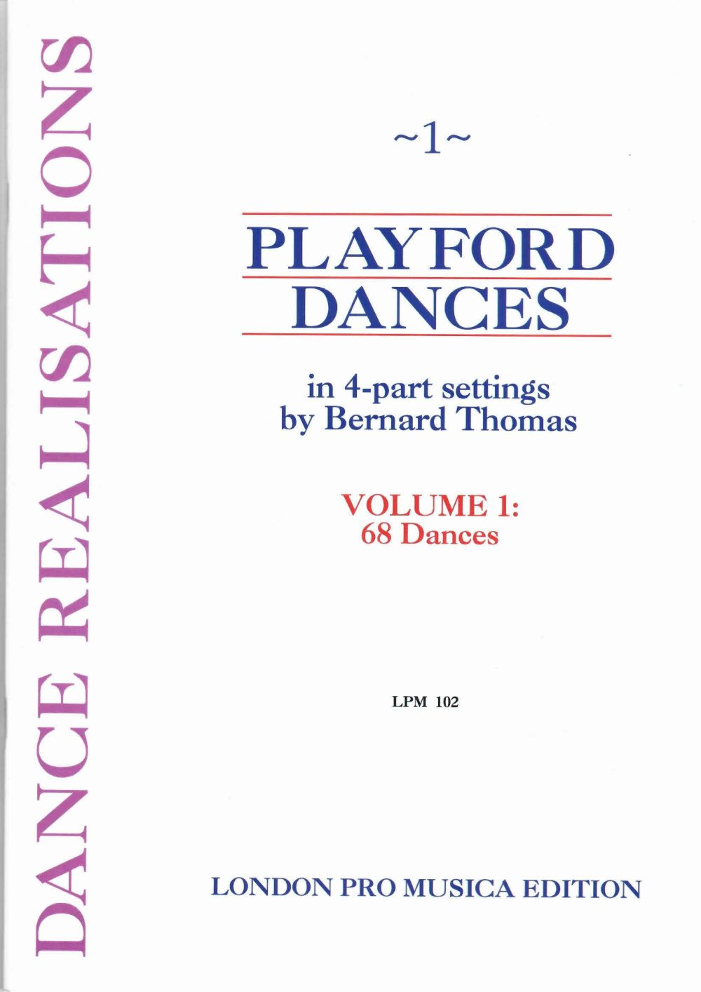 PLAYFORD DANCES VOL 1 - QUATRE INSTRUMENTS