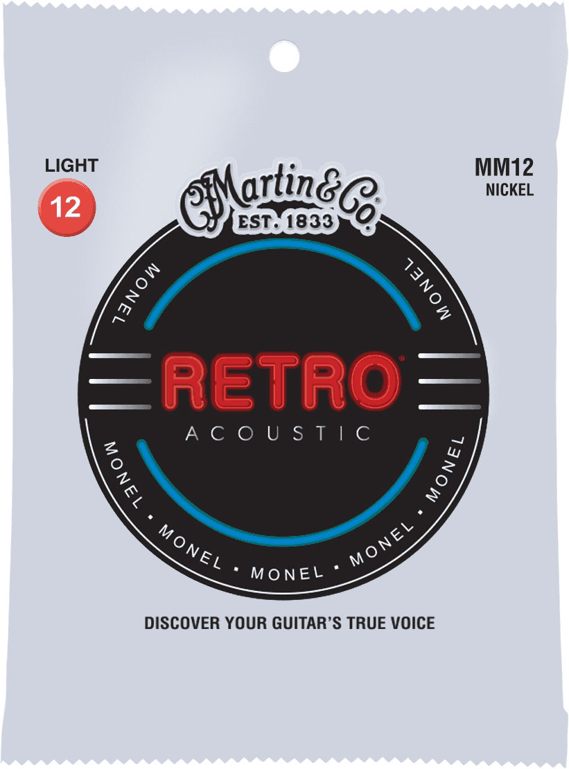 ACOUSTIC RETRO MONEL STRINGS LIGHT SET!12-15-25-25-31-41-41-54
