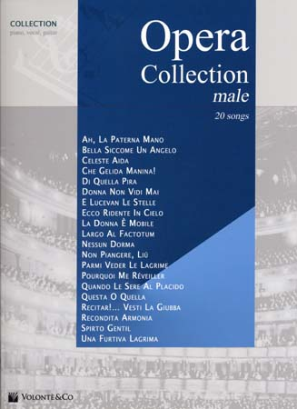 Volonteco opera collection male 20 songs chant piano