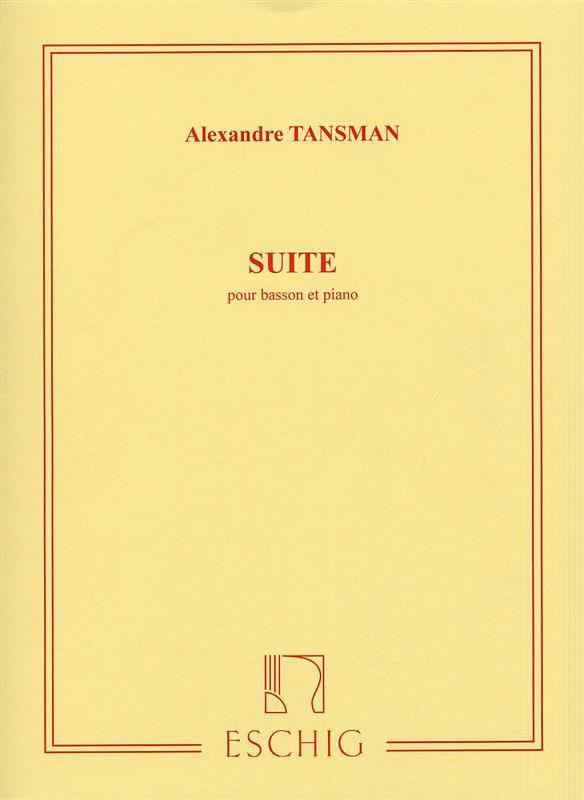 Tansman A. - Suite - Basson Et Piano