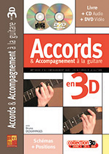 DESGRANGES BRUNO - ACCORDS & ACCOMPAGNEMENTS A LA GUITARE EN 3D CD + DVD