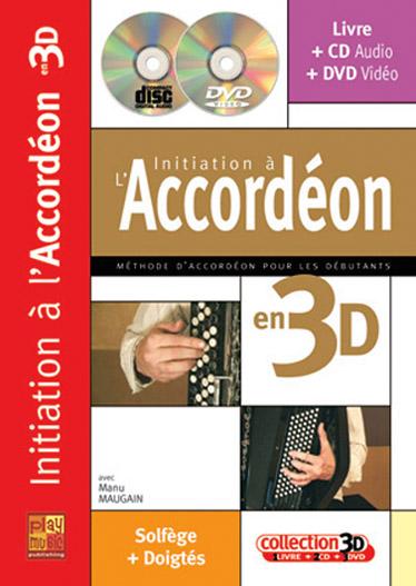 Maugain Manu - Initiation A L'accordéon En 3d Cd + Dvd