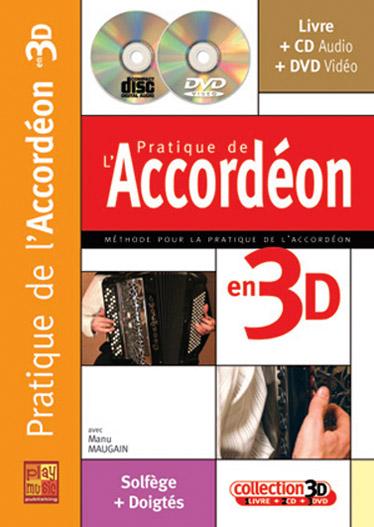 Maugain Manu - Pratique De L'accordeon En 3d Cd + Dvd
