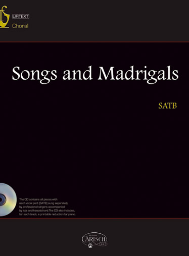 Songs And Madrigals + Cd - Choeur Satb