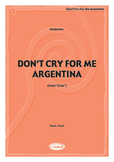 Madonna - Don't Cry For Me Argentina - Piano, Chant