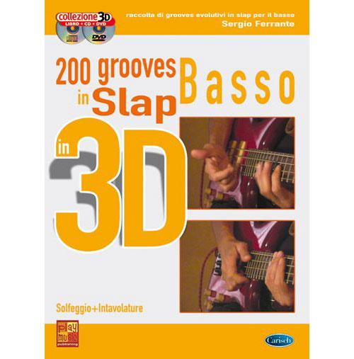 Methode - Ferrante Sergio - 200 Grooves Slap 3d + Cd + Dvd - Basse