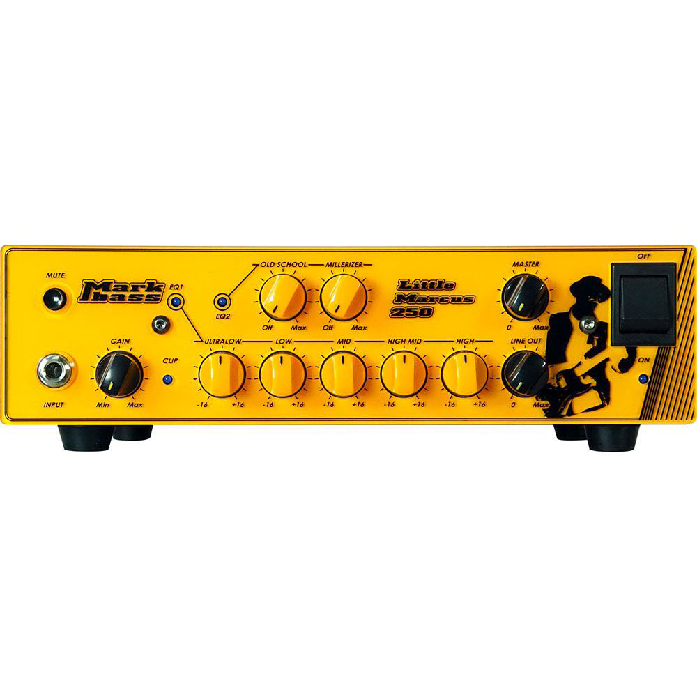MARCUS LITTLE 250 SIGNATURE LOW AMP HEAD MARCUS MILLER YELLOW SCREEN-PRINTED FRONT MARCUS MILLER
