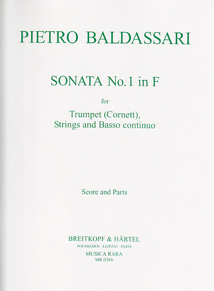 Baldassare P. - Sonata N° 1 In F - Trompette Et Orchestre