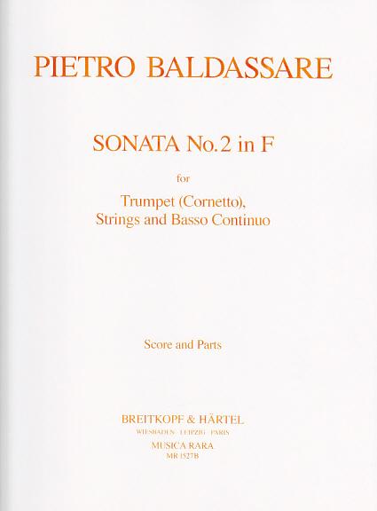 Baldassare P. - Sonata In F - Trompette Et Orchestre