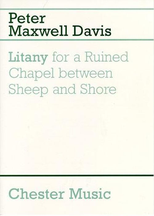 Peter Maxwell Davis - Litany For A Ruined Chapel Between Sheep And Shore - Trompette