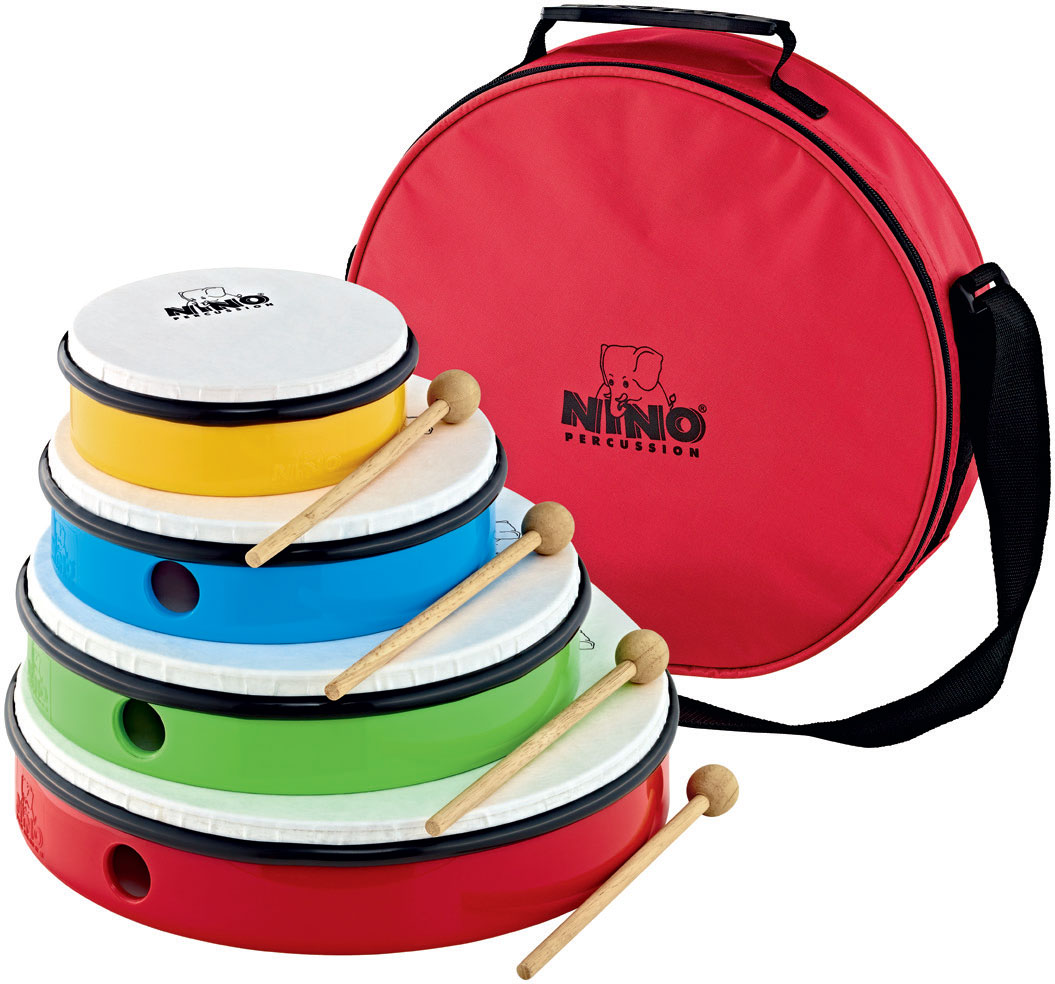 HAND DRUM SET - 4 PCS. - INCL. BAG