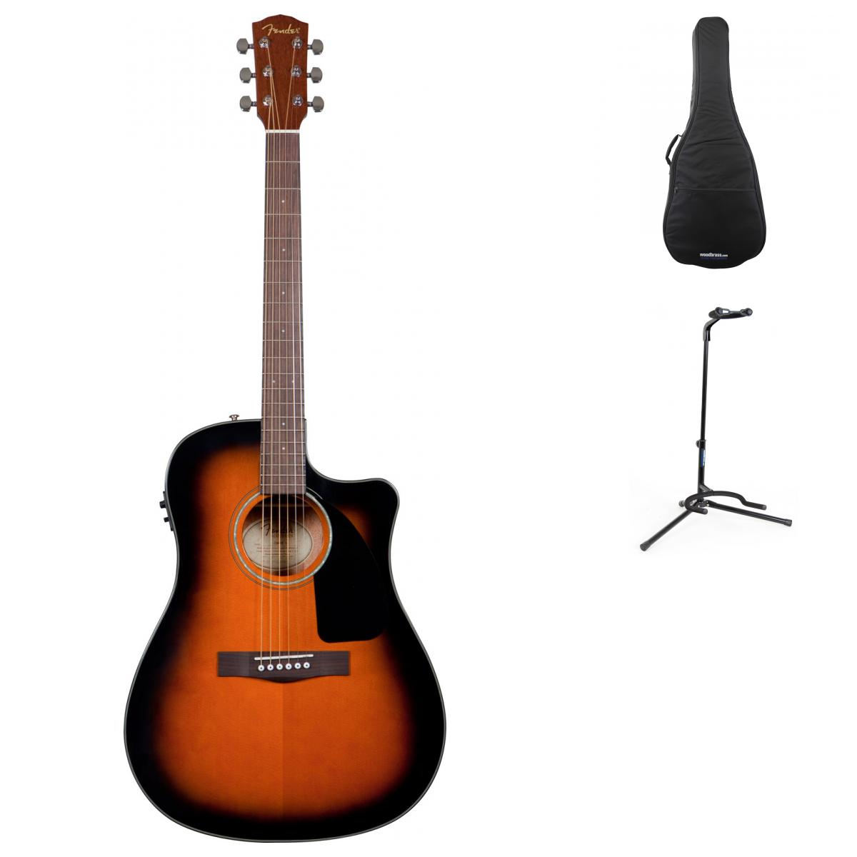 Fender Cd 60 Ce Sunburst V2 + Accessoires
