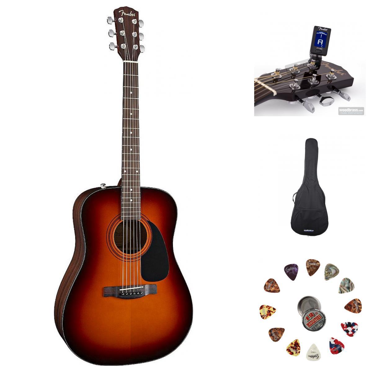 Fender Cd 60 Sunburst V2 + Accessoires
