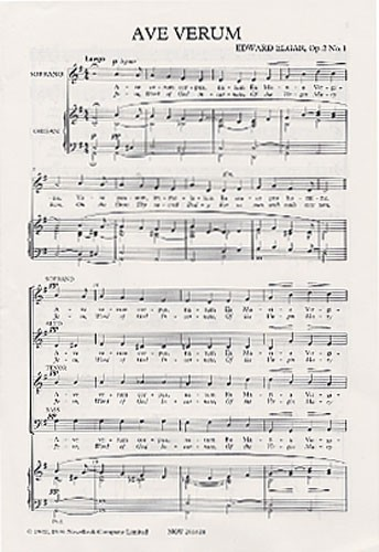 Edward Elgar Ave Verum Op.2 No.1 Chor - Choral