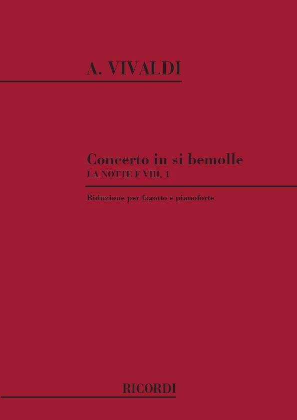 Vivaldi A. - Concerto In Si Bem. 'la Notte' Rv 501 - Basson Et Piano