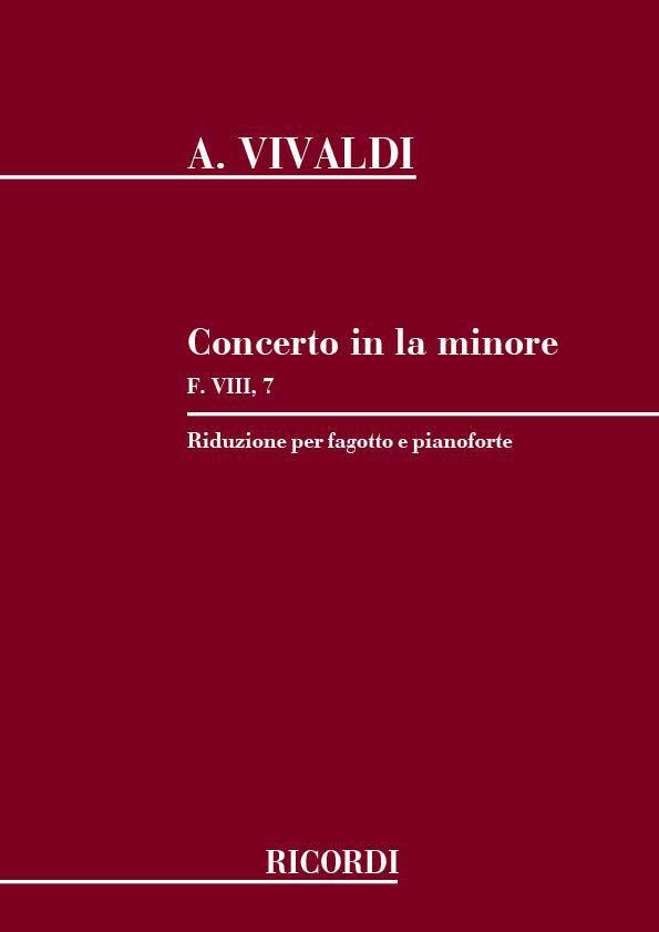 Vivaldi A. - Concerto In La Min. Rv 497 - F.viii/7 - Basson Et Piano