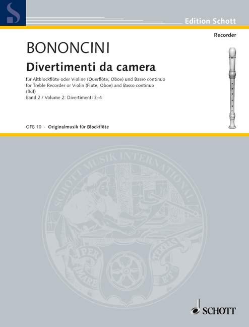 Bononcini G.b. - Divertimenti Da Camera  Band 2