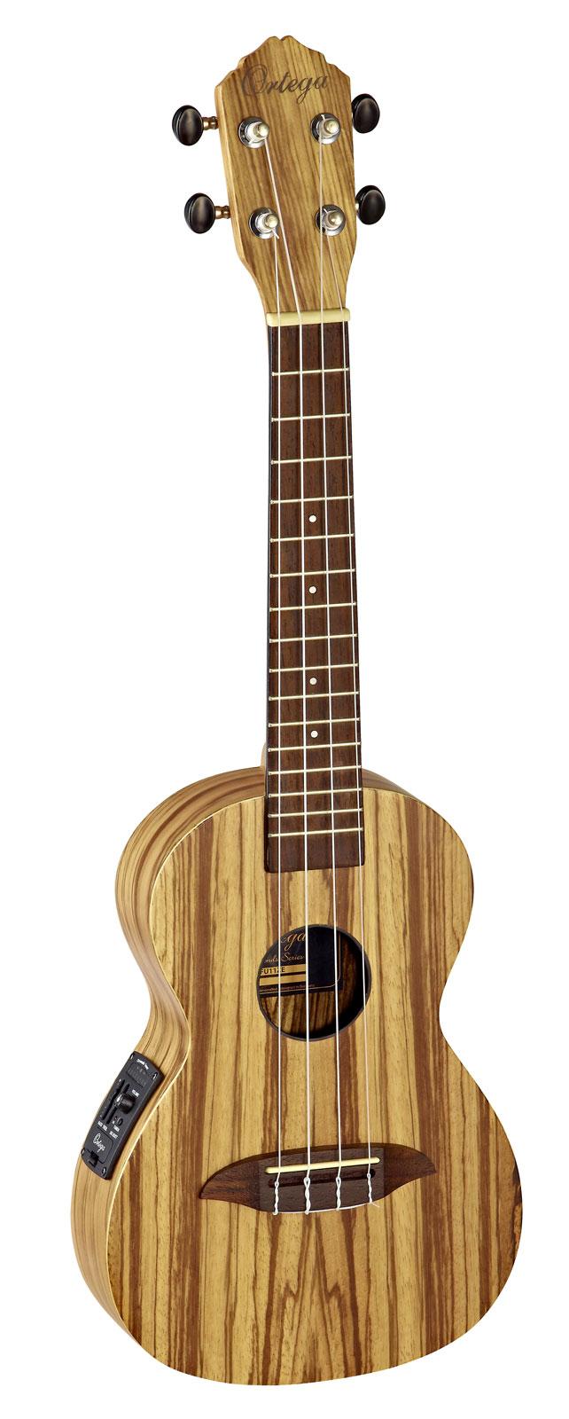 Ortega concert rfu11ze zebrawood natural housse for Housse ukulele concert