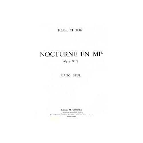 Sheet Music : Nocturne Op.9 N°2 - Chopin, Frédéric (Piano solo)