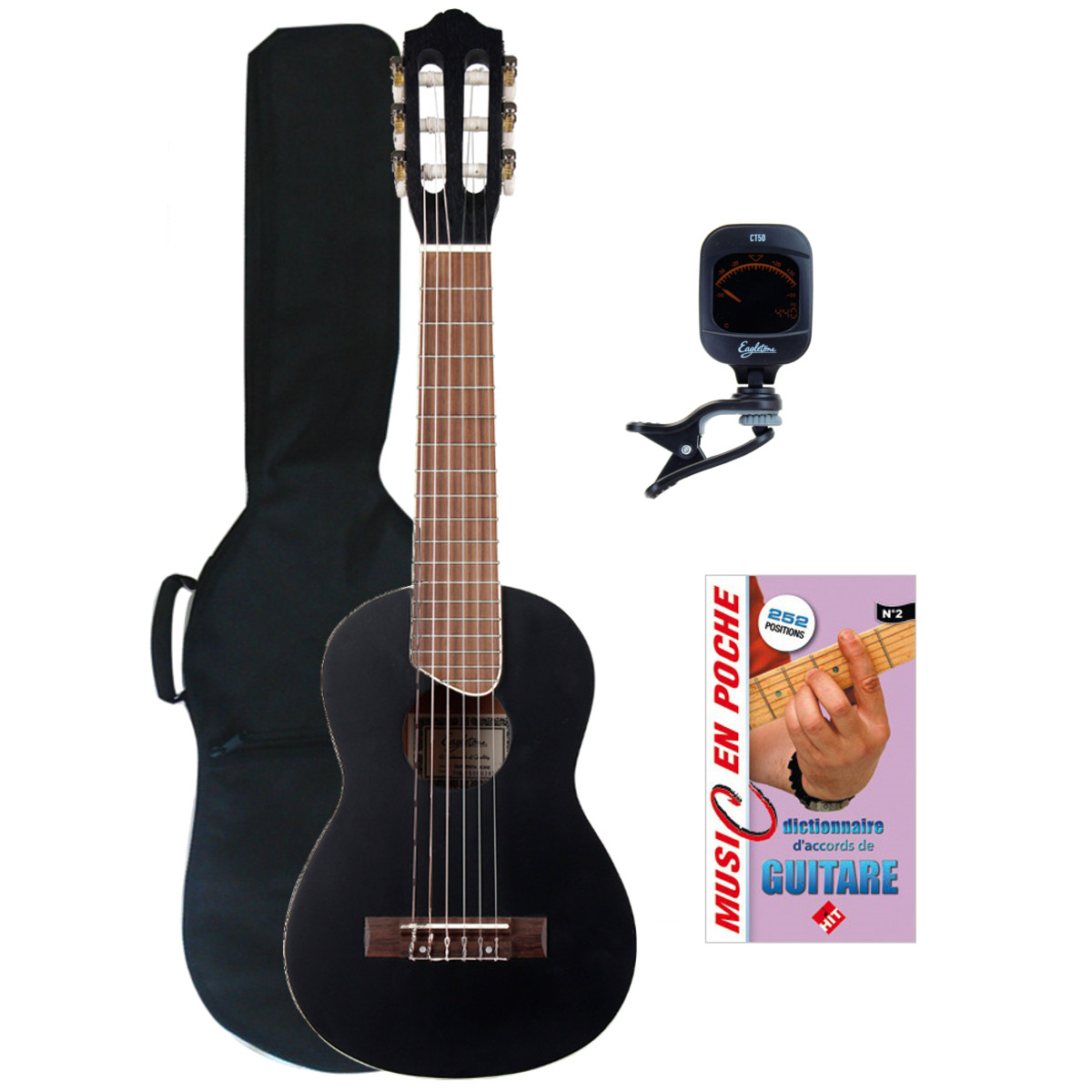 GUITARRITA BLACK + ACCESSORIES