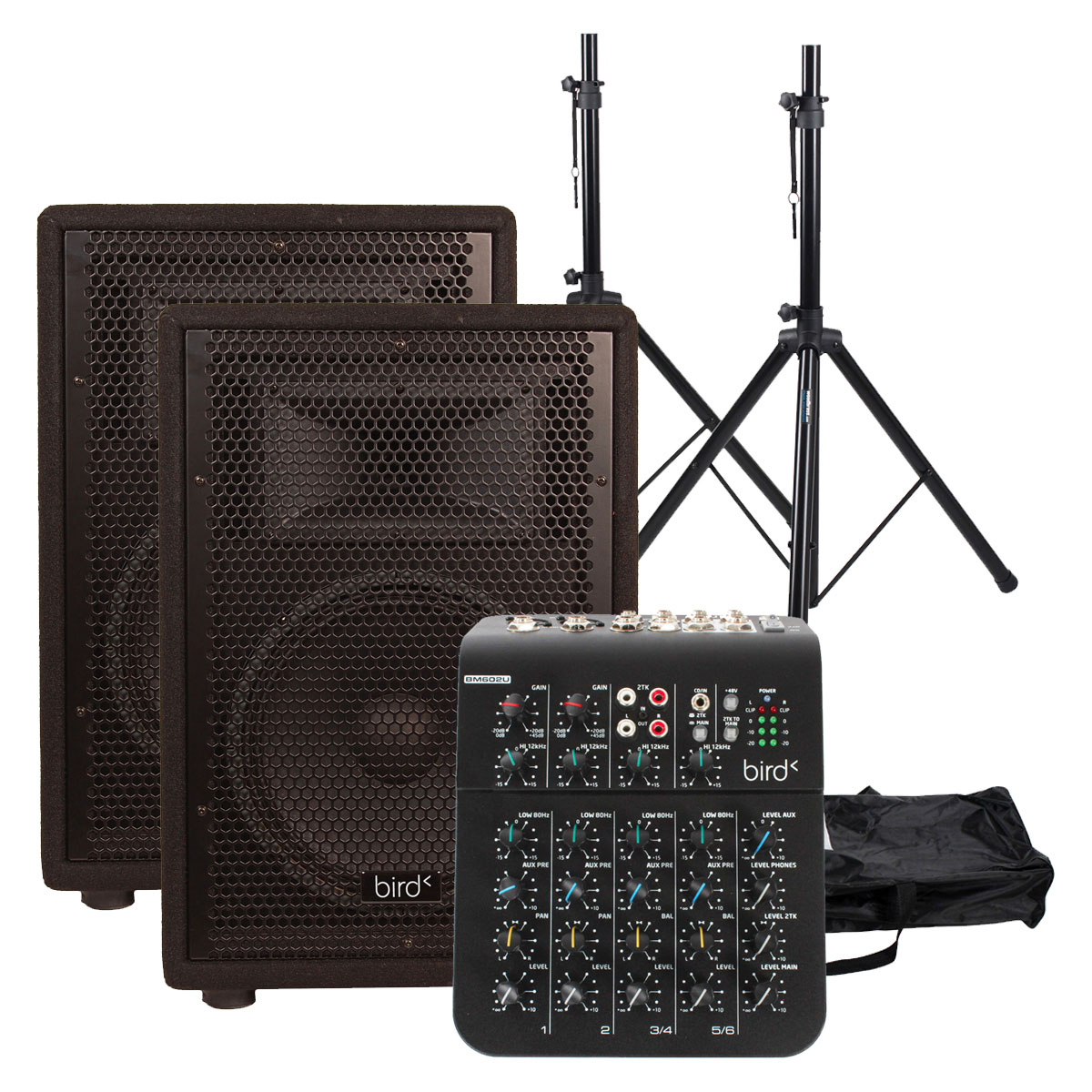 BUNDLE CS 15 P + STANDS + MIXING TABLE