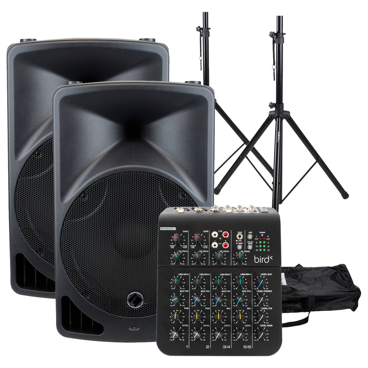 BUNDLE EPS15 V2 + STANDS + MIXING TABLE