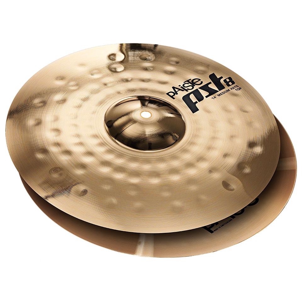 cymbales charleston paiste pst8 pst 8 reflector 14 medium hi hat nouveaute drum buy online. Black Bedroom Furniture Sets. Home Design Ideas