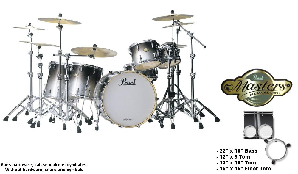 Pearl Mcx924xpc-363 - Masters Custom Mcx Standard - Black Sparkle Fade