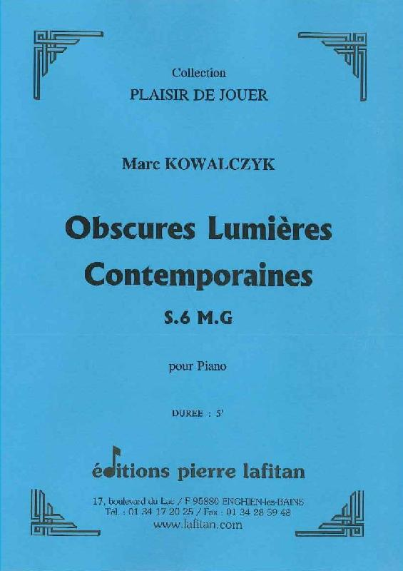 Kowalczyk Marc - Obscures Lumieres Contemporaines - Piano