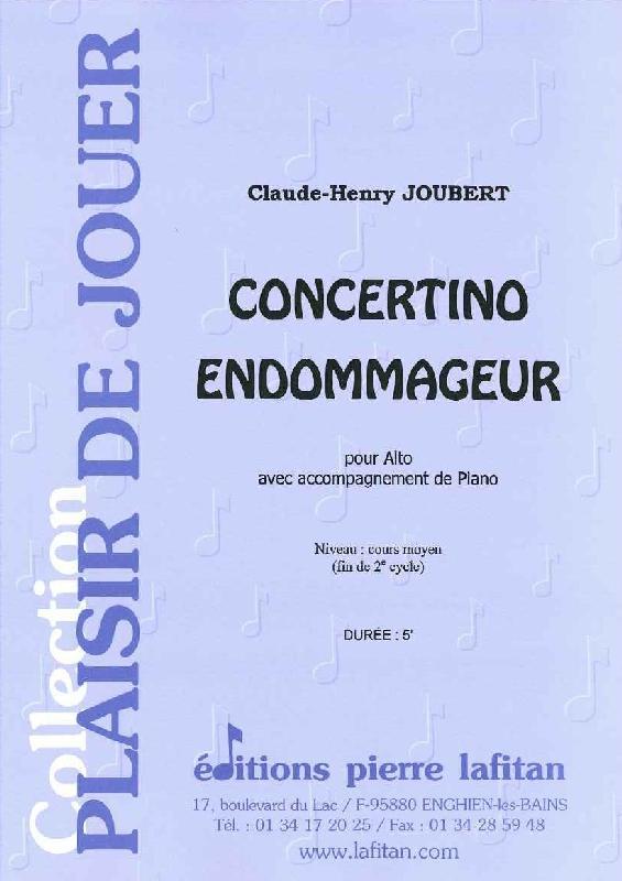 Joubert Claude-henry - Concertino Endommageur - Alto Et Piano