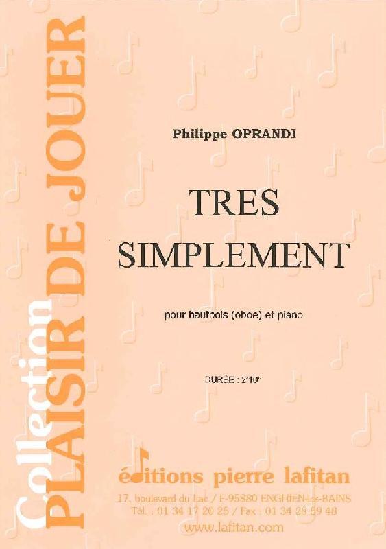 Oprandi Philippe - Tres Simplement - Hautbois Et Piano