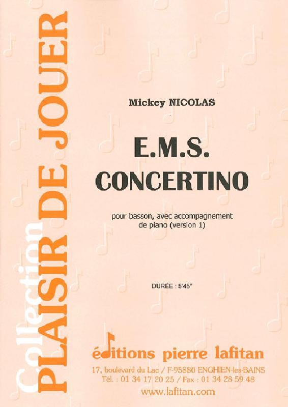 Nicolas Mickey - E.m.s. Concertino  - Basson Et Piano